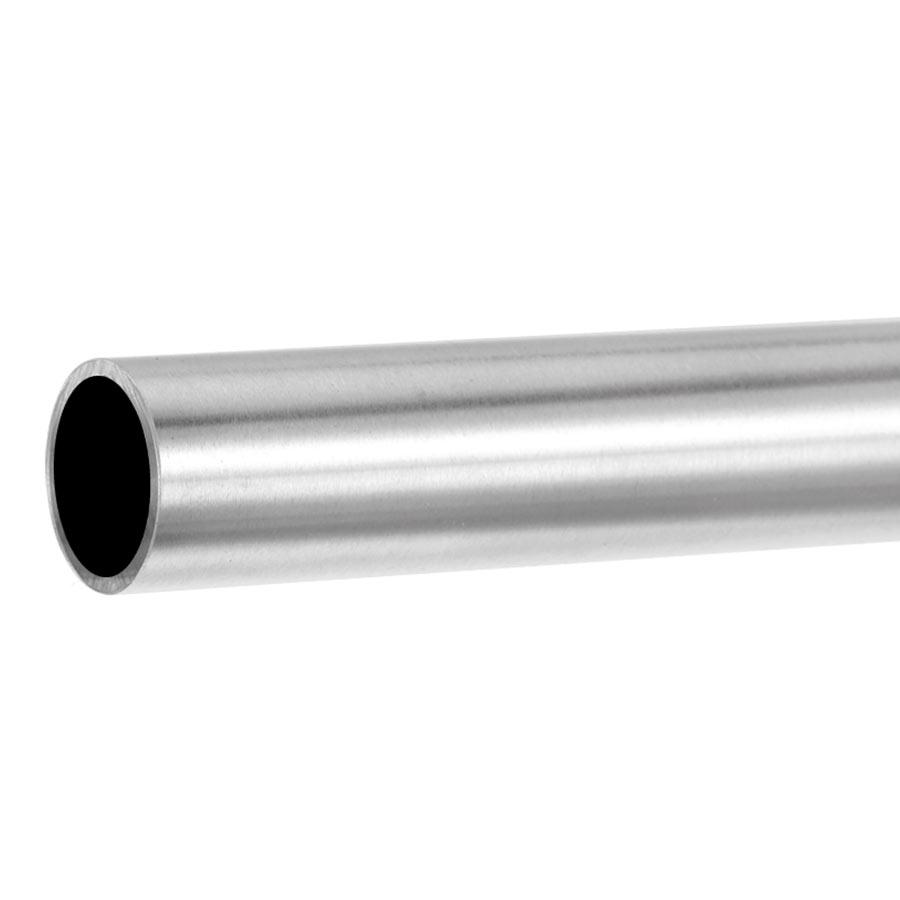 poli embout dro/îte AISI 304 avec des supports soud/és jusqua 6 metre diametre 42,4mm Main Courante en acier inoxydable V2A